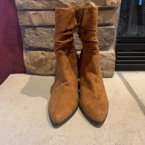 Apt. 9 Shoes - Apt 9 Faux Suede Brown High Heel Boots